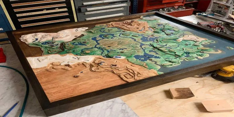 CNC Projects that Sell Map Hyrule