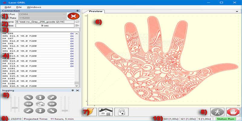 LaserGRBL laser cutter software