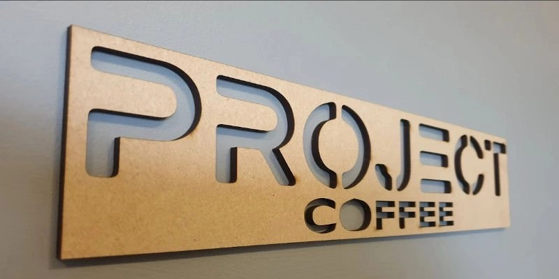 Laser cut sign for business