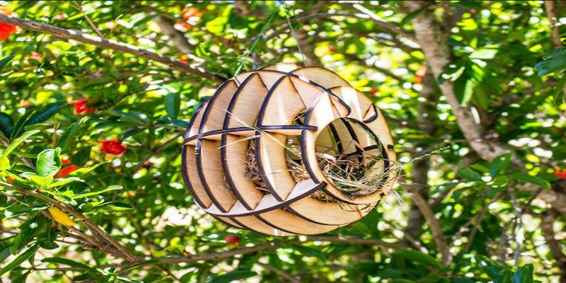 Laser cut bird feeder