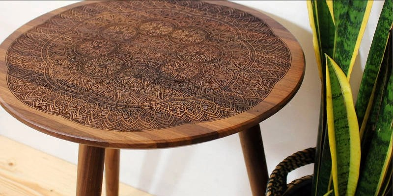 Laser wood engraving ideas coffee table