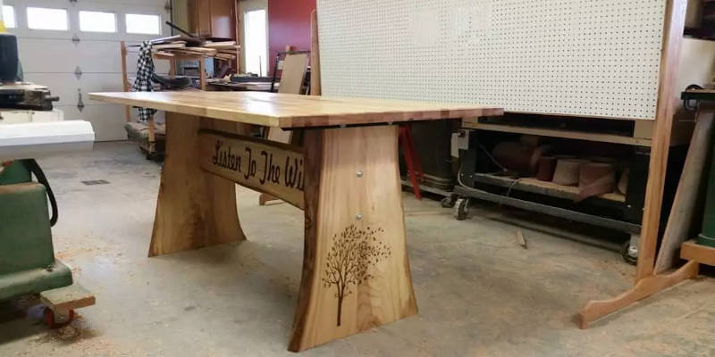 Laser engraving table example