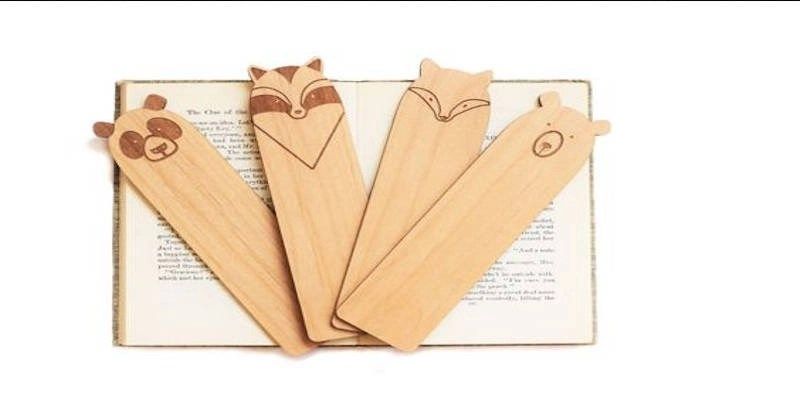 Laser cut bookmark project wood engraving