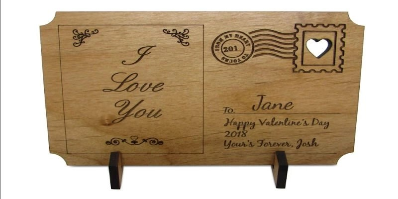 Laser Cutter Gifts - Post Card Engraving