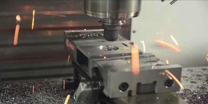 Milling a metal block