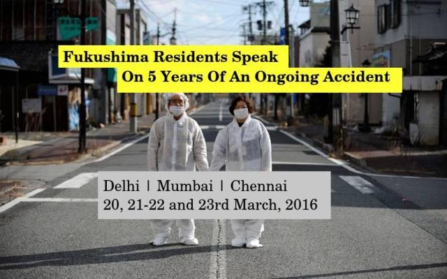 Fukushima residents in Delhi