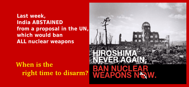 Citizens' Statement Condemning the Indian Government's Abstention from the UN Vote on Nuclear Ban