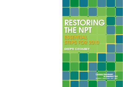 NPT-RevCon-2010-Deepti-Choubey