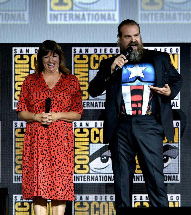 Cate Shortland and David Harbour at SDCC 2019