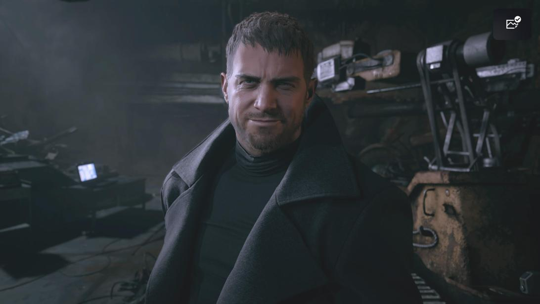 What's got Chris Redfield smiling?