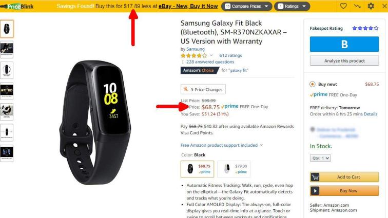 priceblink for galaxy fit