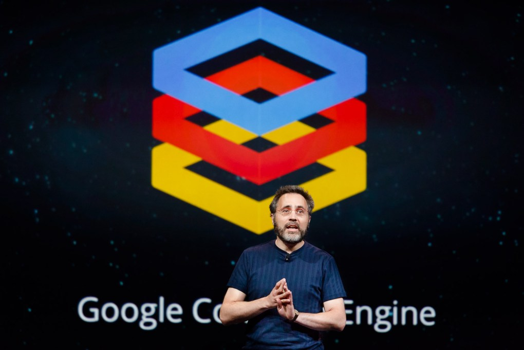 Urs Holzle, senior vice president for technical infrastructure at Google, announces Google Compute Engine at the Google I/O conference in 2012.