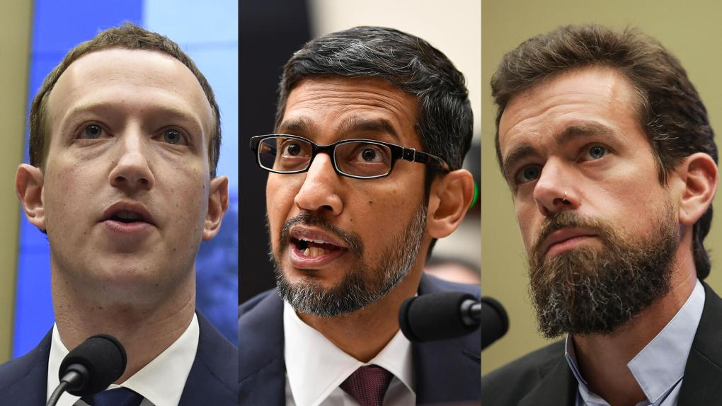 Watch Big Tech CEOs from Twitter, Google and Facebook testify on disinformation - livestream