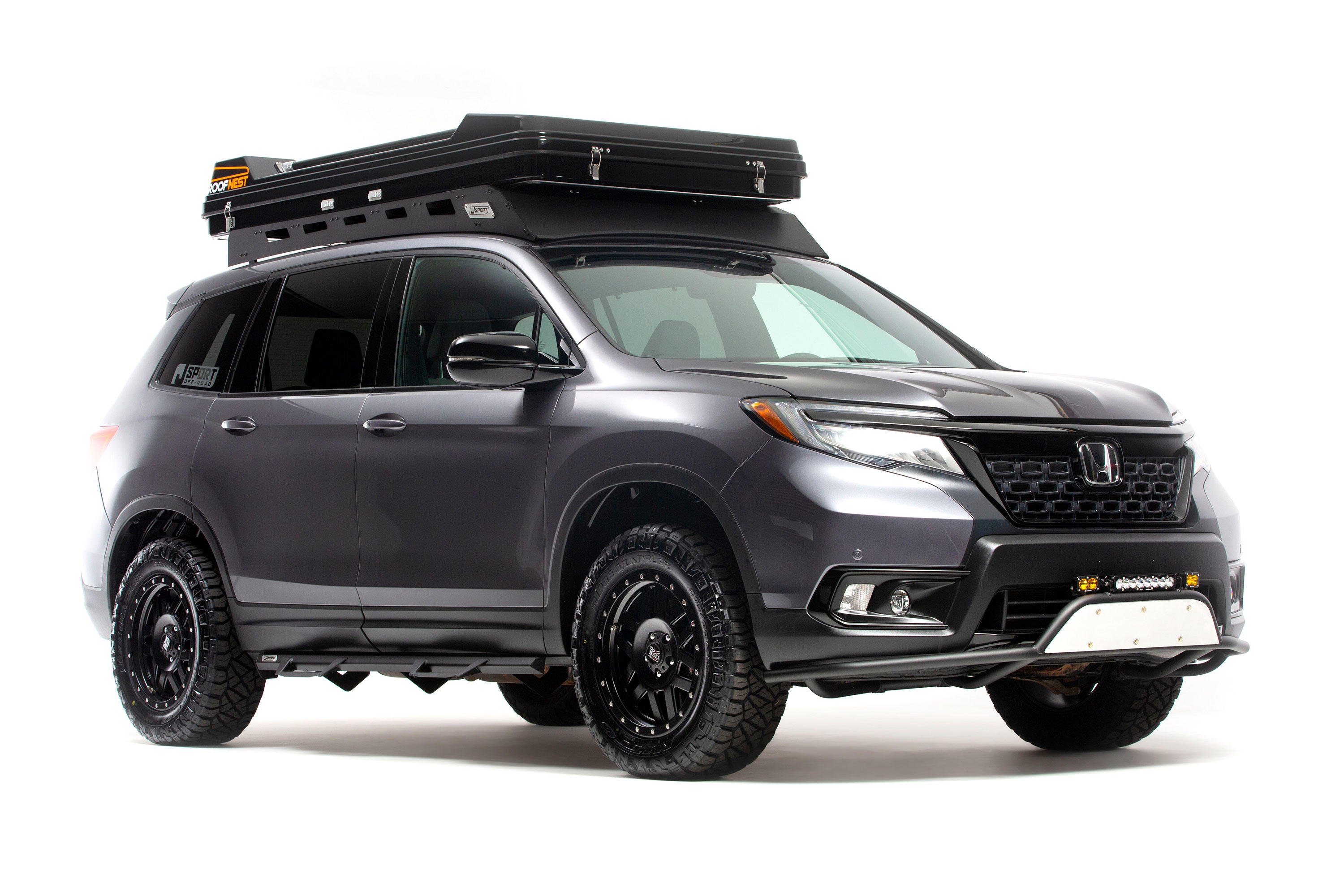 This vehicle has met all my needs, i had a small lift kit put in with bigger. Honda Passport Ridgeline Get Off Road Accessories For Overland Expo Roadshow