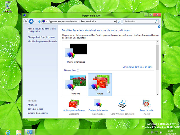 Thèmes Windows 8