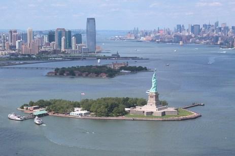Le port de New York vu du ciel