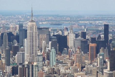 L'Empire State building et le Chrysler building vus du ciel