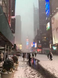Times Square sous la neige, en 2014