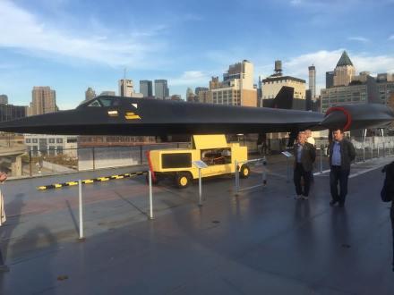 L'avion furtif A-12 Blackbird, l'oiseau noir espion. (Photo Laurence Bajeux)