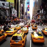 Times Square et sa marée de taxis jaunes