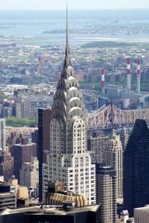 Le Chrysler building depuis l'Empire State building