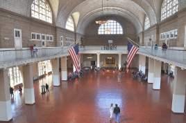 L'intérieur du hall principal d'Ellis Island