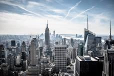 L'Empire State building et la pointe Sud de Manhattan depuis le Top of the Rock