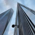 Au pied de la One World Trade Cente