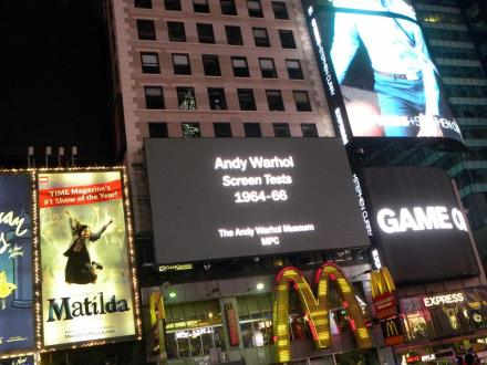 Screen Tests d'Andy Warhol. (Photo Sabine de Winne)