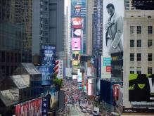 Times Square vue depuis la terrasse du Novotel. (Photo Loïcnice)