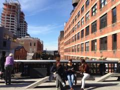 Pause sur la High Line. (Photo Laurence Bajeux)