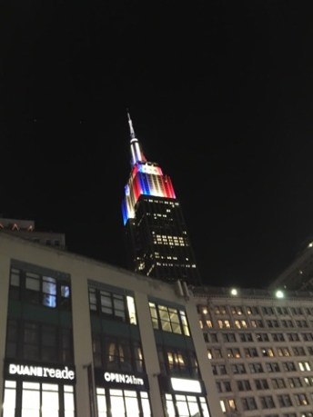 L'Empire State Building fête la France le 15 juillet 2018. (Photo Loïcnice)