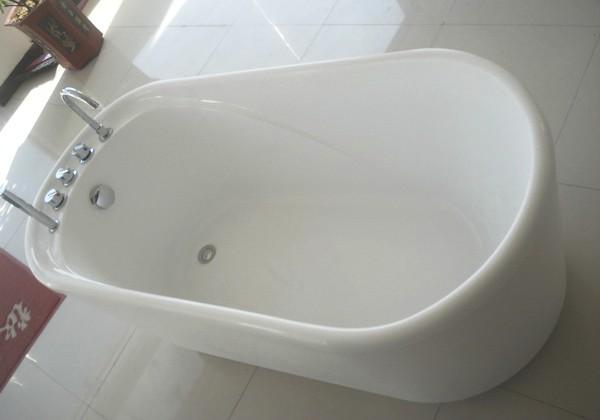 55 Inch Acrylic Free Standing Soaking Tub 1400mm