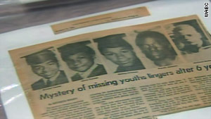 The five missing youths who disappeared in Newark, NJ in 1978.