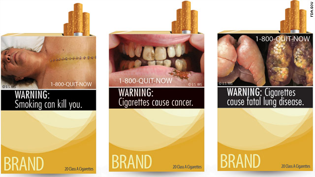 Graphic warning labels for cigarette packages