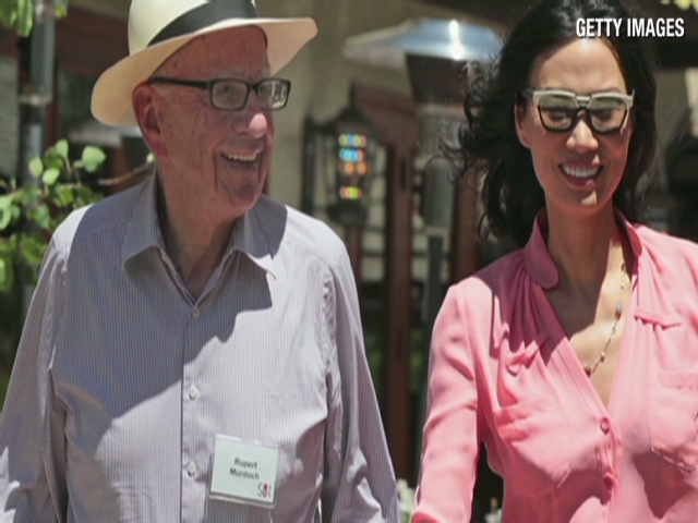 Wendi Deng Murdoch and husband
