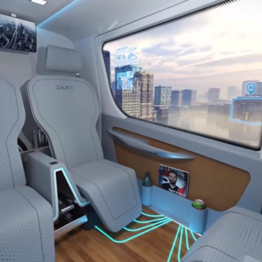 Embraer's 'flying car' interior concept