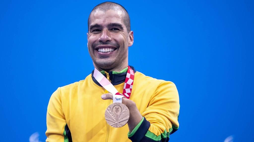 Daniel Dias conquistou bronze na prova de 100 metros livre da classe S5 das Paralimpíadas
