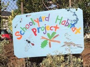 School garden sign. Credit Karen Taylor.