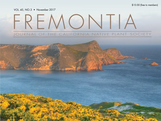 Fremontia Volume 45 Number 1 and 2 cover