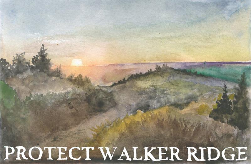 Walker Ridge watercolor painting by Obi Kauffmann