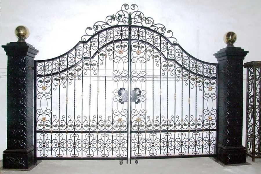 Modern House Wrought Iron Gate Design-You Fine Sculpture on Iron Get Design  id=49236