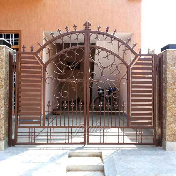 Modern beautiful sliding wrought driveway iron gate design ... on Iron Get Design  id=94539
