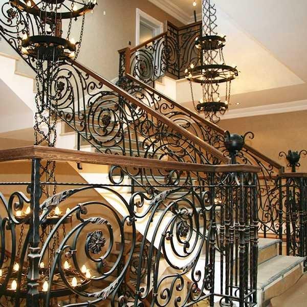 Large Custom Made Stunning Wrought Iron Staircase Railing Designs | Stair Rails For Sale | Interior | Steel | Iron Rail | Minimalist | Modern