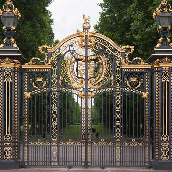 Modern Metal Art Double Driveway Front Entry Wrought Iron ... on Iron Get Design  id=41349