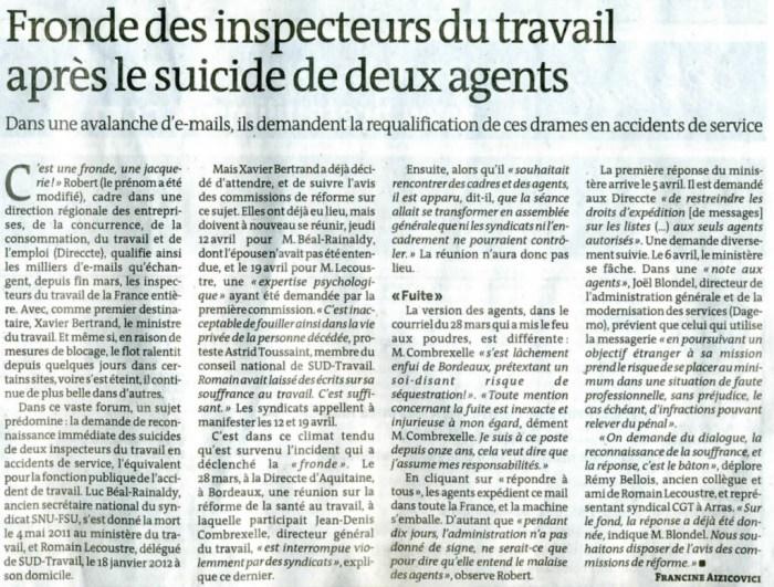 Fronde-inspecteurs-travail-accident-service
