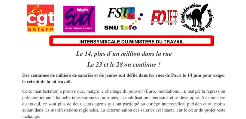 Le 14 Plus D Un Million Dans La Rue Le 23 Et Le 28 On Continue
