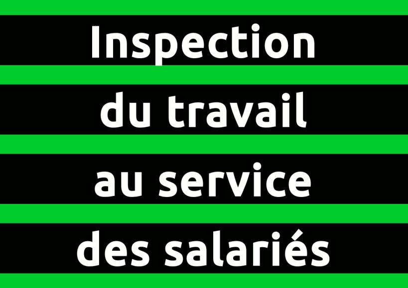 autocollant Inspection du travail au service des salariés