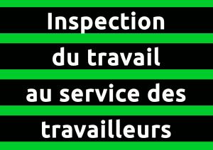 autocollant Inspection du travail au service des travailleurs
