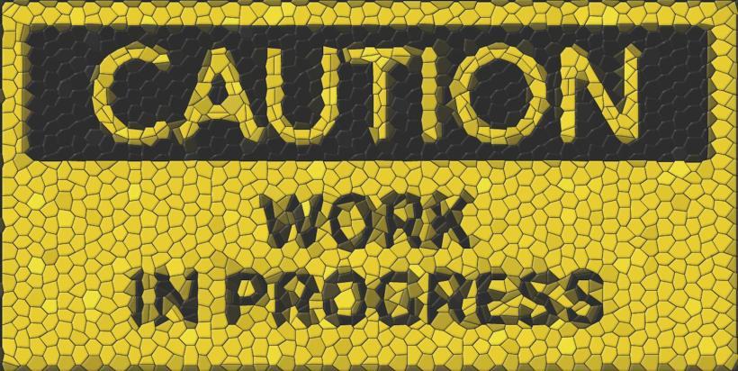 caution work in progress - accident de service